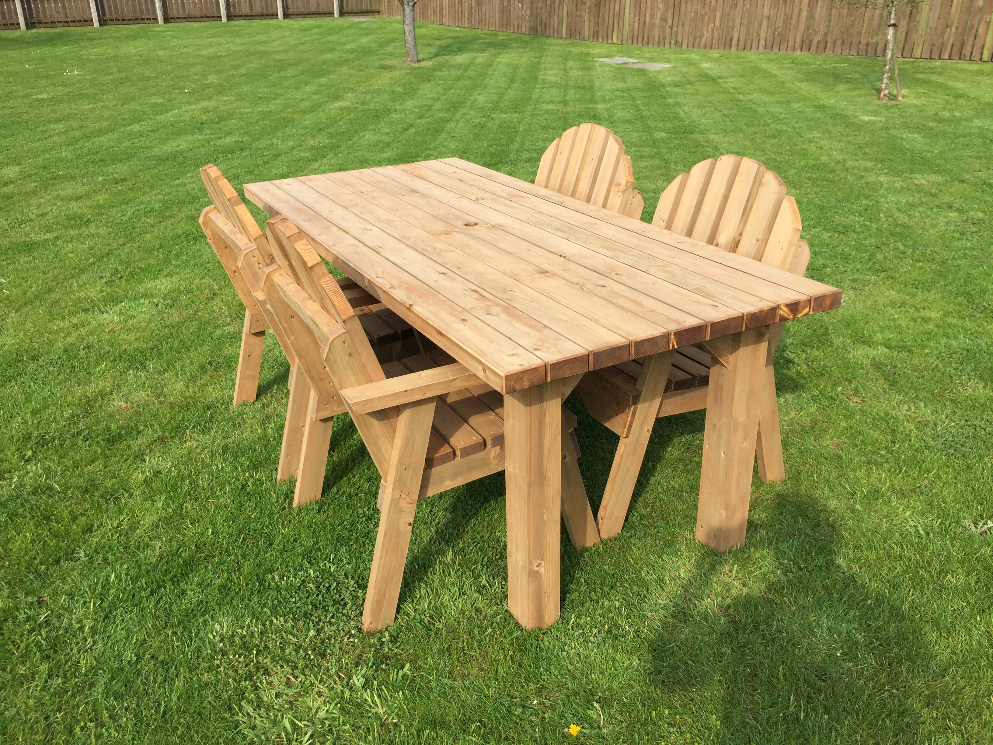 Garden Table and Chairs for customer in Monaghan