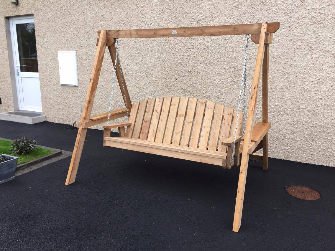 Garden Chair swing for customer in Downpatrick