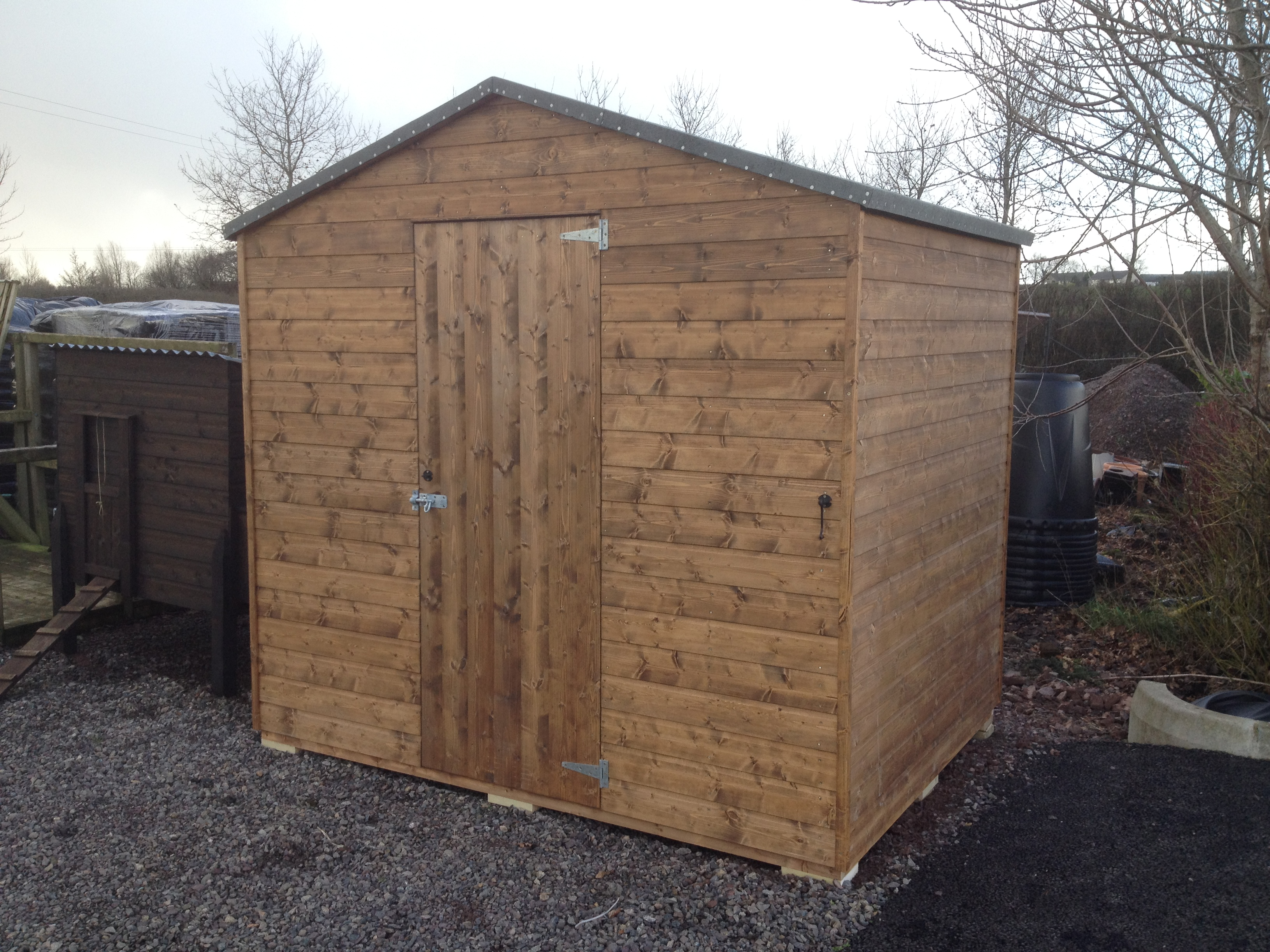 Garden Shed for client in Fermanagh D & G Woodcraft